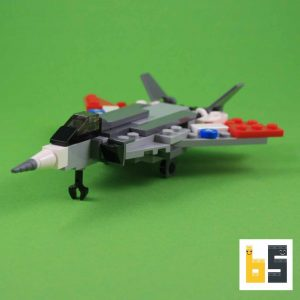 Different views of the Grumman F 14 Tomcat as a LEGO® creation by Peter Blackert