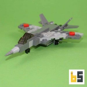 Different views of the Mikoyan MiG 29 as a LEGO® creation by Peter Blackert