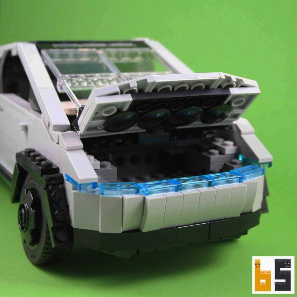Different views of the Tesla Cybertruck as a LEGO® creation by Peter Blackert