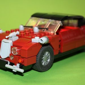 "Jaguar Mk II ""Inspector Morse"" (red & black) – kit from LEGO® bricks"
