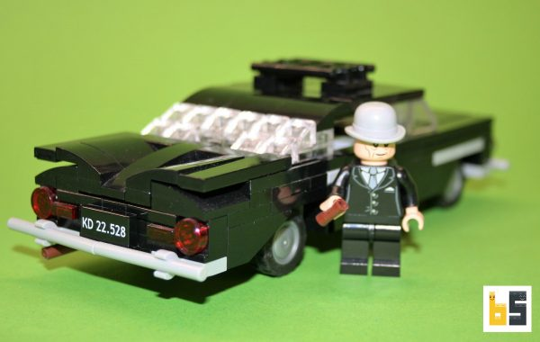 "Different views of the Chevrolet Bel Air 1959 ""Olsenbande"" LEGO® MOC by The Brickworms."